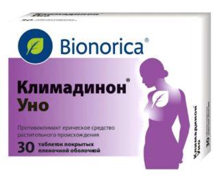 Климадинон при климаксе содержит природные эстрогены