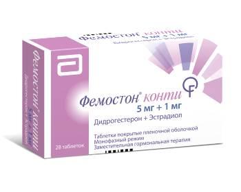 Перечень препаратов, используемых для ЗГТ при климаксе