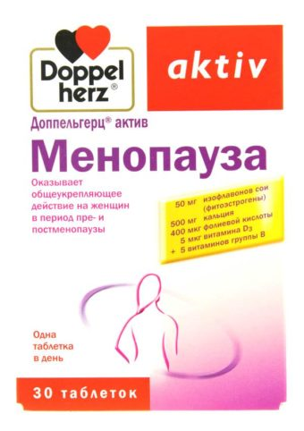 Комплекс витаминов при климаксе у женщин
